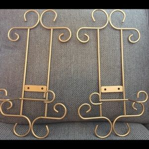 Other - 2 Brass plate holders. Very nice and sturdy.